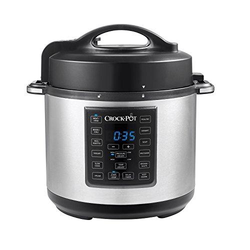 Crock Pot 6 Quart 8 in 1 Multi Use Express Crock Programmable Pressure...