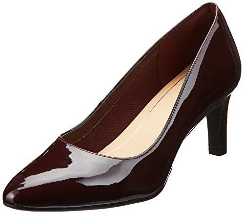 Clarks Calla Rose, Zapatos de Tacón Mujer, Marrón (Burgundy Patent Burgundy Patent), 39 EU