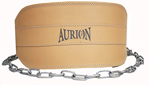 """Aurion Dipping Belt for Weight Lifting with Adjustable 37"""" Steel Chain- Great for Chin Pull,Weighted..."""