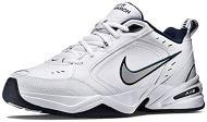 Nike Men's Air Monarch IV Cross Trainer, White/Metallic Silver/Midnight Navy, 10.0 Regular US