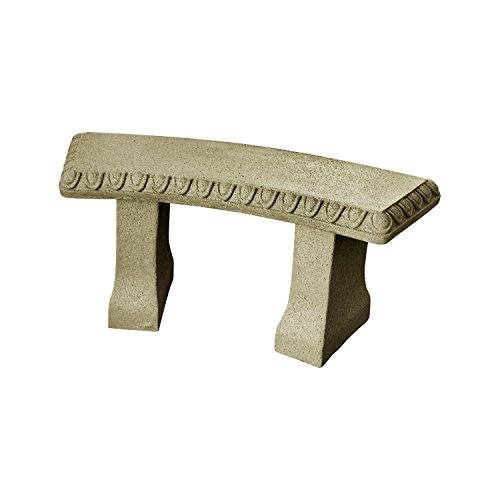 EMSCO Group Garden Bench –Natural Sandstone Appearance –Made of...