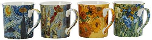 Lesser & Pavey Van Gogh Tazze assortite, Multicolore, Set di 4