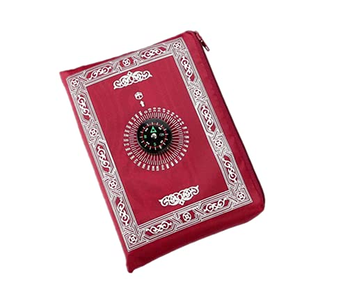 Hitopin Tapis de prière Islamique de Voyage avec Boussole et Sac de...