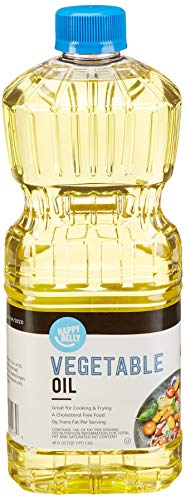Amazon Brand - Happy Belly Vegetable Oil, 48 Ounces