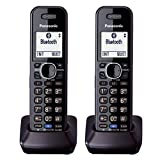 Panasonic KX-TGA950 Dect 6.0 Plus 2-Line Caller ID Call Block 3-Way Conferencing Landline Cordless Accessory Handset for KX-TGXXXX Series Phones (2-Pack)