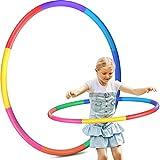 Hoola Hoop Reifen Kinder, 8 Abschnitte Hoola Hoop für Kinder Abnehmbare Fitness Hoola Hoop Reifen für...