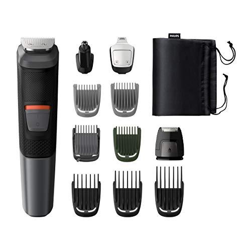 Philips Grooming Kit serie5000 MG5730/15 Tagliacapelli, Regolabarba uomo, Rifinitore Corpo/Naso/Orecchie, Impermeabile, 11in1