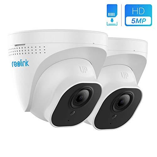 Reolink Telecamera IP PoE Esterno da 5MP, Videocamera Sorveglianza Interno PoE con Visione Notturna, Rilevazione di Movimento e Allarme Inteligente, RLC-520-5MP (2 Pezzi, Nuovo Aspetto di RLC-420-5MP)