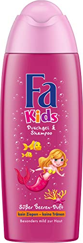 FA KIDS Duschgel & Shampoo Meerjungfrau mit süßem Beeren-Duft, 1er Pack (1 x 250 ml)