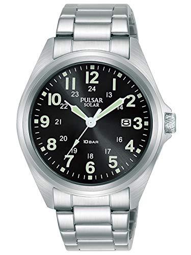 Pulsar Solar Herren-Uhr Edelstahl mit Metallband PX3219X1