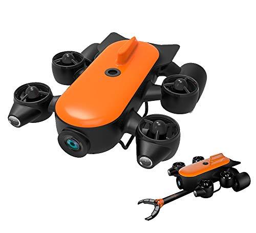 AHELT-J 150M / 100M Robot Professionale per Droni Subacquei con Rilevamento di Telecamere D'azione 4K UHD in Tempo Reale,Rilevamento Subacqueo per Visualizzazione, Pesca e Lavori di Salvataggio,150mr