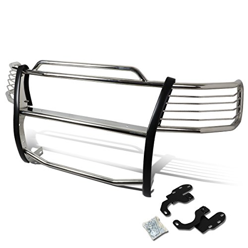 Replacement for Ford Expedition / F150 / F250 2WD Front Bumper Protector Brush Grille Guard (Chrome)