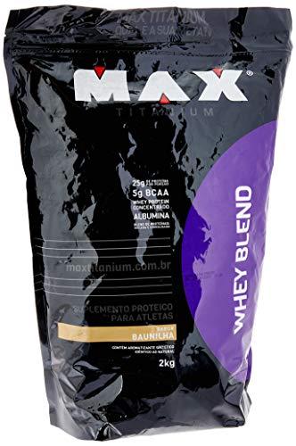 Whey Blend, Max Titanium, Baunilha, 2000 g Refil