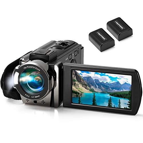 Video Camera Camcorder kimire Digital Camera Recorder Full HD 1080P 15FPS 24MP 3.0 Inch 270...