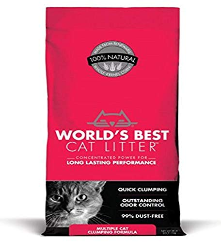 World's Best Cat Litter, Clumping Litter Formula for Multiple Cats, 28-Pounds