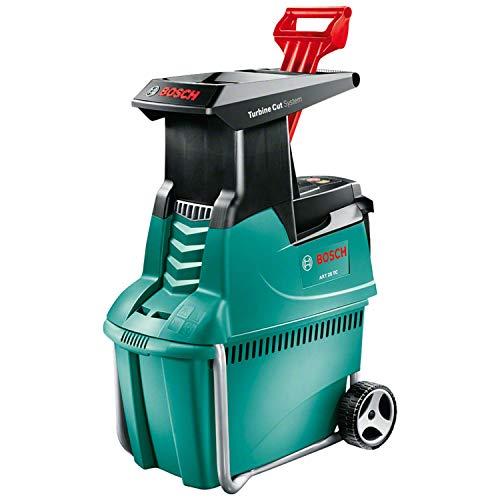 Broyeur de végétaux Bosch - AXT 25 TC (2500W, poussoir pour déchets verts, bac 53L, débit: 230 Kg/H, coupe maximale: Ø 45 mm)
