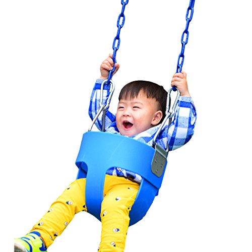 Balanu-Heavy-Duty-High-Back-Full-Bucket-Toddler-Swing-Seat-with-Coated-Swing-Chains-for-Kid-Baby-Infant-YardGardenPlayground-Use