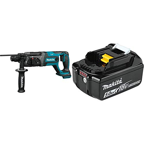 Makita XRH04Z 18V LXT Lithium-Ion Cordless 7/8' Rotary Hammer, accepts SDS-PLUS bits with BL1850B 18V LXT Lithium-Ion 5.0Ah Battery