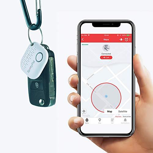 SpotyPal - Buscador de Llaves Buscador de teléfono. Alerta SOS. Alerta de separación. 1-Pack Blanco