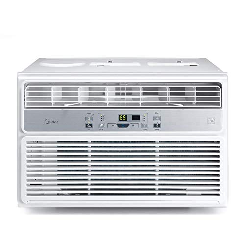 MIDEA EasyCool Window Air Conditioner - Cooling, Dehumidifier, Fan with remote control - 6,000 BTU, Rooms up to 250 Sq. Ft. (MAW06R1BWT Model) , White