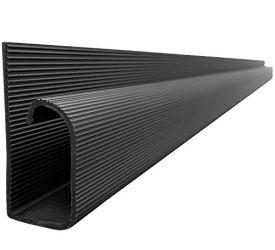 J Channel Cable Raceway - Black - 48' Length