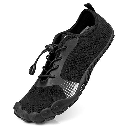 QANSI Hiking Shoes Women Quick-Drying Trail Gym Sneakers All Black Size 10.5