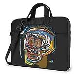 Lsjuee Jean-Michel Basquiat portátil Bandolera Bandolera Funda maletín para 13 Pulgadas 14 Pulgadas 15,6 Pulgadas Funda para portátil 15,6 Pulgadas
