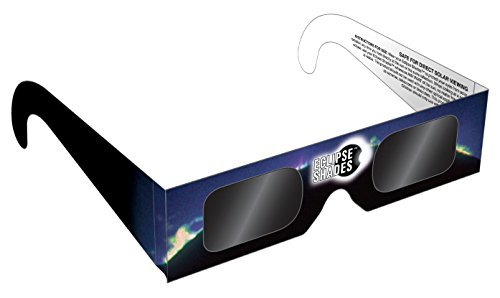 Eclipse Glasses - CE and ISO Certified Safe Solar Eclipse Shades - Viewer and Filter - 10 Pack - Made in USA