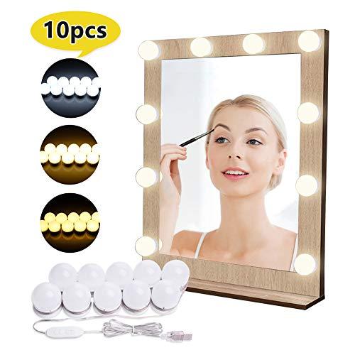 Luci di Specchio per Trucco LED Lampada da Specchio Cosmetico di Stile Hollywood Lampadine...