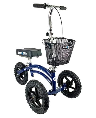 KneeRover All Terrain Steerable Knee Scooter Knee Walker Heavy Duty Crutches Alternative in Blue