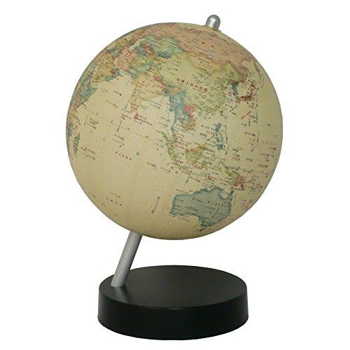 昭和カートン 卓上型地球儀 球径13cm 13-CTP-K 行政図 アンティークタイプ