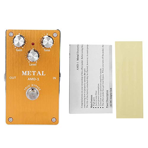 Valentine's Day PresentFull Metal Shell High Gain Distortion 9V DC Power Electric Guitar Pedal, Guitar Effect Pedal, for Musical Instrument