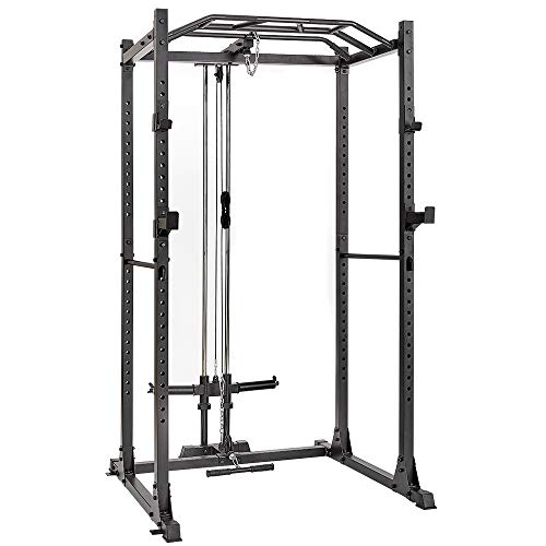 AMGYM Power Cage 1200LB Capacity with LAT Pulldown Power Rack Home Gym...