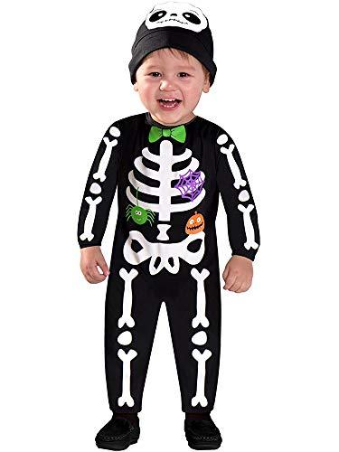 amscan 9903881 Childs Mini Bones Skeleton Halloween Fancy Dress Costume Age 3-4 Years