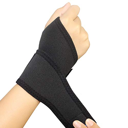 Gulf W 2Pack Wrist Support Brace, Adjustable Wrist Strap Reversible Wrist Brace for Sports Protecting/Tendonitis Pain Relief/Carpal Tunnel/Arthritis/Injury Recovery, Right&Left Hand Available