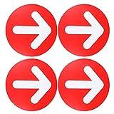 STOBOK Autocollants de Décalcomanie de Flèche pour Des Planchers Autocollant de Signe de Mur de Plancher Directionnel Éloignant Des Autocollants de Signe de Plancher