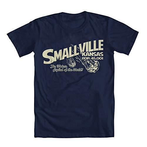 Dafony Smallville Kansas Camiseta Casual de algodón para Hombre Camiseta gráfica Creativa Estampado de Letra Transpirable de Manga Corta para la Vida Diaria S-XXXL