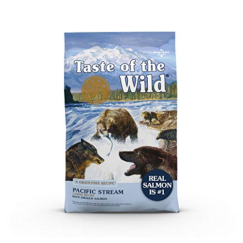 Taste of the Wild Pacific Stream Canine Grain-Free Recipe with Smoked Salmon Adult Dry Dog Food, Vitamins and Antioxidants 28lb