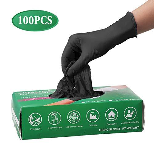 Guanti monouso in nitrile, Pumoes Guanti monouso in lattice da 100 pezzi per proteggere le mani a...