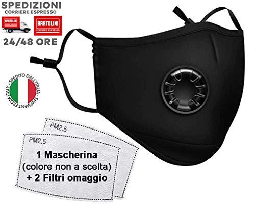 VENEZIANO Mascherine protettive da Ciclismo con Filtro, Respiratore per Maschera Antipolvere, Mascherina di Protezione, Maschere Lavabili per Equitazione, Anti inquinamento