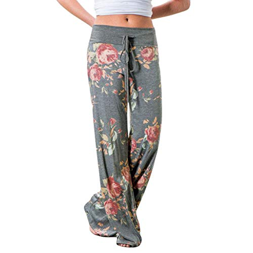 Women Pants Neartime Print Loose Casual Pants American Flag...