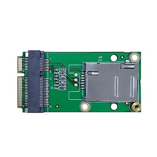 EXVIST 4G LTE Industrial Mini PCIe a Mini PCIe Adaptador con ranura para tarjeta SIM (Push-Push) para módulo WWAN / LTE 3G / 4G adecuado para aplicaciones M2M e IoT como Raspberry Pi Industrial Router Videovigilancia