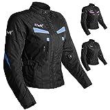 Women's Motorcycle Jacket For Women Stunt Adventure Waterproof Rain Jackets CE Armored Stella (Sky Blue, S)