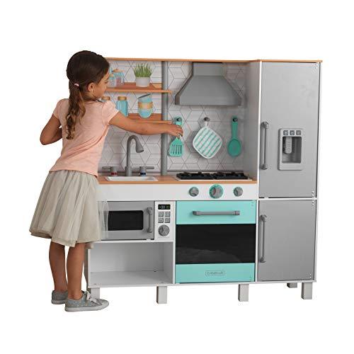 Kidkraft 53421 Gourmet Chef - Cucina Giocattolo in Legno, con Macchina del Ghiaccio, per Bambini, Dotata di Sistema di Montaggio EZ Kraft Assembly