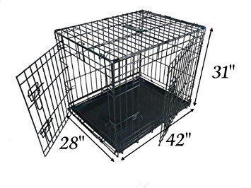 Ellie-Bo XLarge 42 inch Folding 2 Door Crate