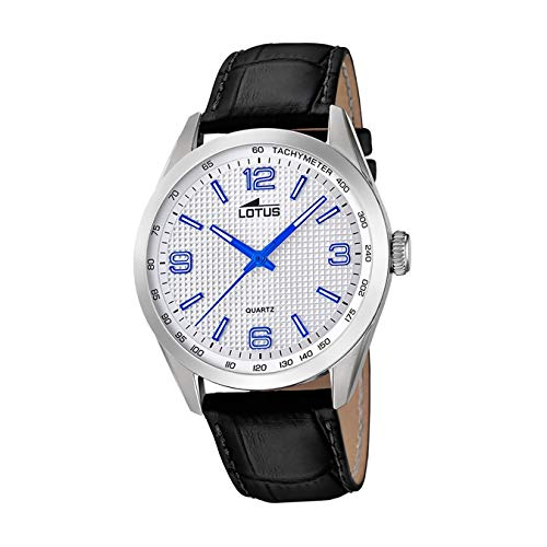 Lotus Herren Analog Quarz Uhr mit Leder Armband 18149/3
