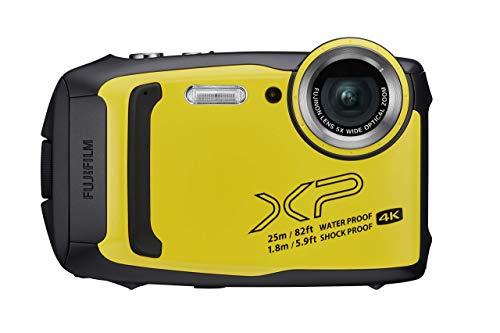 Fujifilm FinePix XP140 Fotocamera Digitale Impermeabile 25 m, CMOS 16MP, Zoom Ottico 5x, Stabilizzatore Meccanico, Batteria al Litio, Wi-Fi, Bluetooth, Yallow/Giallo