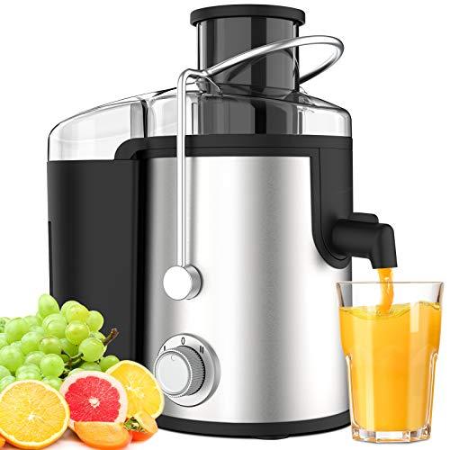 Centrifuga Frutta Verdura Professionale Due Velocit Senza BPA Acciaio Inox Leva di Sicurezza Separatore Automatico Anti-Surriscaldamento di ELEHOT