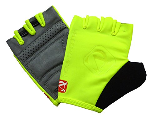 VeloChampion Guanti da Corsa VC Comp PRO Race Gloves (Giallo, Medio)