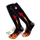 Chaussettes Chauffantes Électriques Rechargeables avec 3 Réglages de...